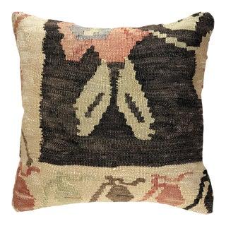 "Shabby Chic Vintage Kilim Pillow | 16"" For Sale"