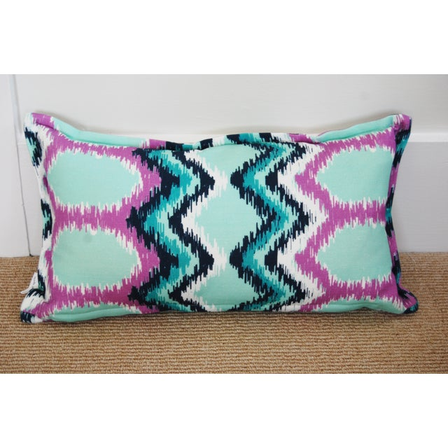 """""""Dynasty"""" Flame Stitch Lumbar Pillow - Image 2 of 3"""
