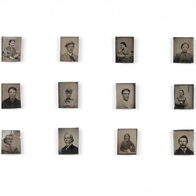 Antique Framed Daguerreotype Portraits - Set of 12 - Image 2 of 2