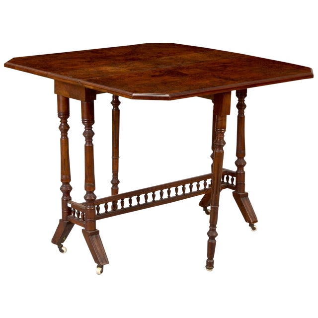 Belgian Walnut Drop-Leaf Table - Image 1 of 4