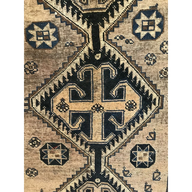 Amazing Vintage Find Beautiful Art Deco Rug Stunning Colors And Design Vintage Condition /Needs A Bit Repaired On Edge/...