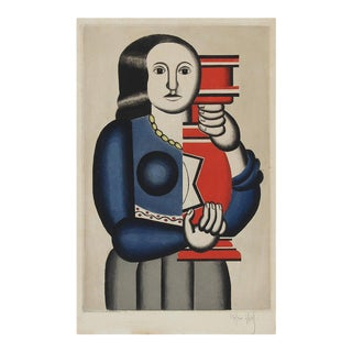 "Jacques Villon Print after Fernand Leger, ""Femme Tenant un Vase"" For Sale"