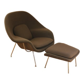 Eero Saarinen for Knoll Womb Chair With Ottoman For Sale