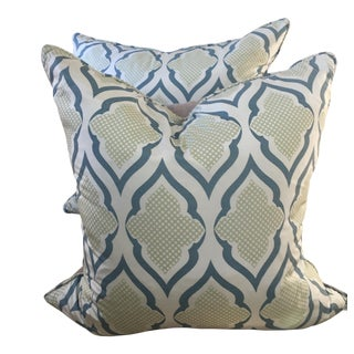 Christopher Farr Silk Pillows - A Pair For Sale