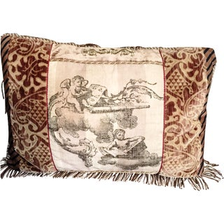 Cherub Fringe Pillow