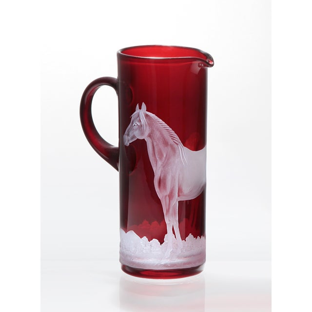 Traditional Horse Pitcher, Red For Sale - Image 3 of 3