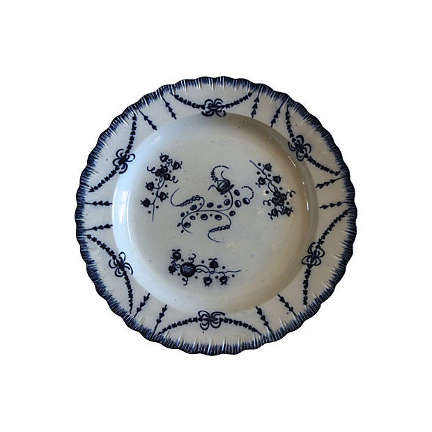 Antique English Creamware Wall Plate - C. 1820 For Sale - Image 4 of 4