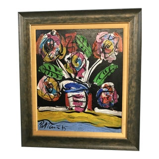 "Peter Keil ""Spring Flowers"" Framed Painting For Sale"