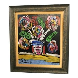 "Peter Keil ""Spring Flowers"" Framed Painting For Sale"
