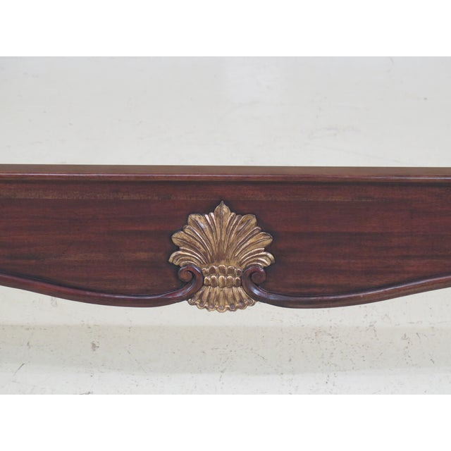 This is a new piece. Fine Carved Details High Quality Construction Tufted Upholstered Headboard Large Impressive Bed...