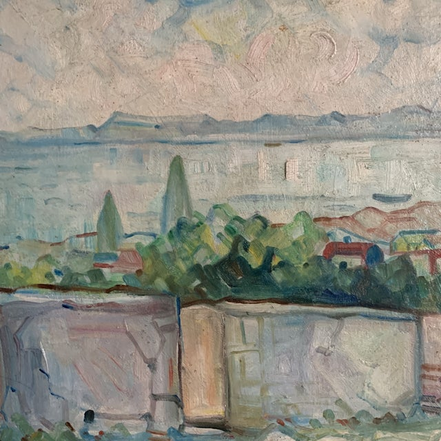 Early 20th Century Antique Original Signed Impressionist Oil Painting For Sale - Image 5 of 10