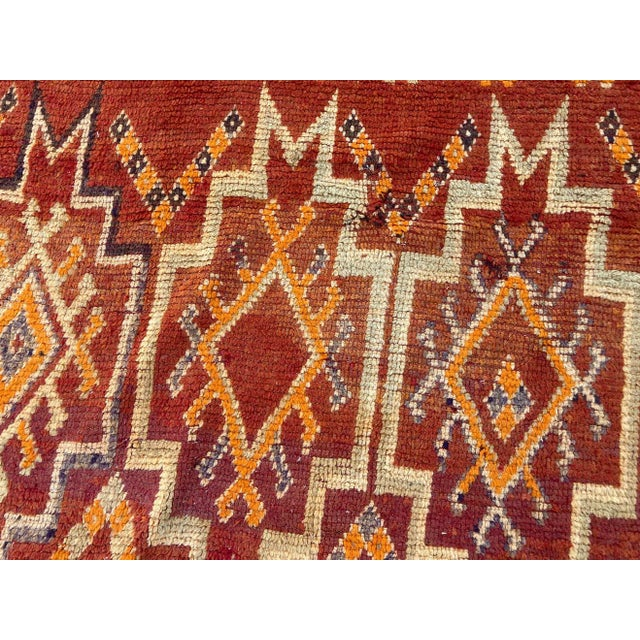 Moroccan Vintage Hand-woven Marrakech Tribal Rug, circa 1960 For Sale - Image 9 of 13
