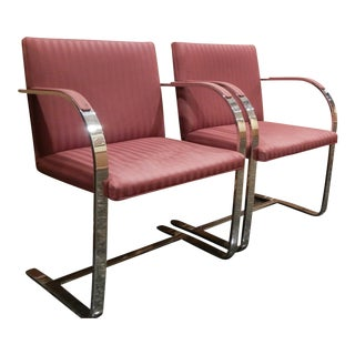 Pair of 1960s Mies Van Der Rohe Brno Chairs for Bruerton - a Pair