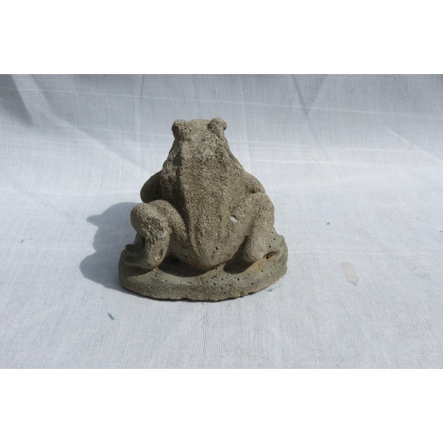 Mid 20th Century Cast Stone Frog Garden Ornament For Sale - Image 5 of 6