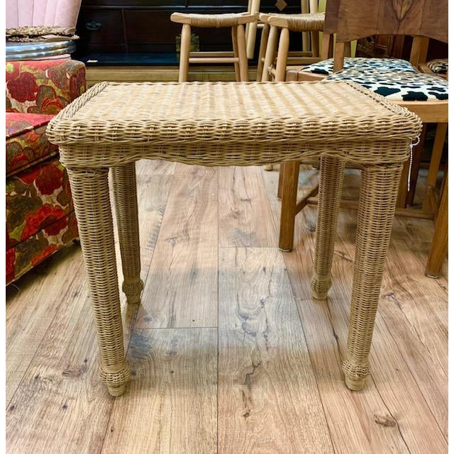 Wicker Side Table For Sale In New York - Image 6 of 6