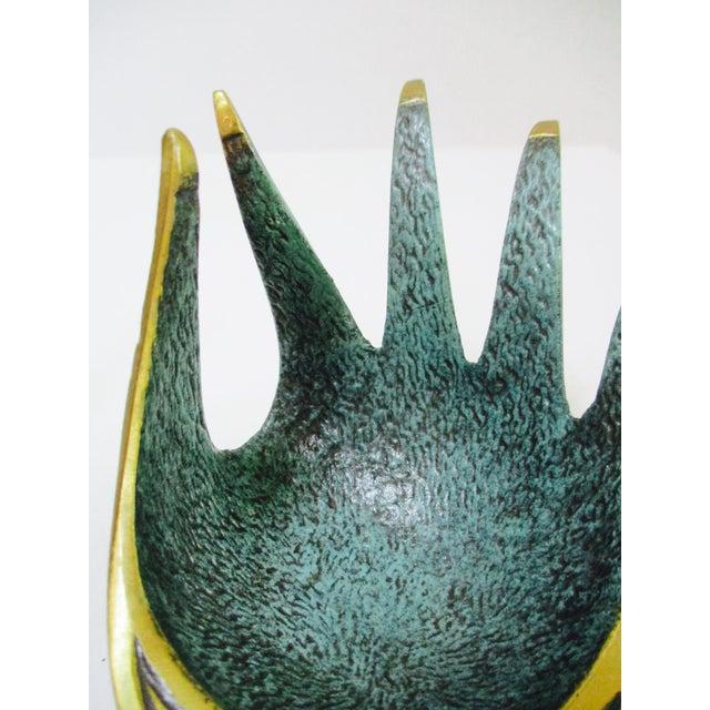 Modernist Brass Hand Sculptural Form Dish - Image 7 of 9