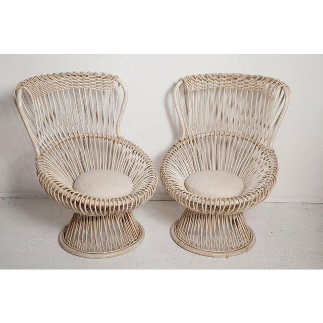 Restored Pair of 1950s Margherita Chairs by Franco Albini for Vittorio Bonacino For Sale In Miami - Image 6 of 9