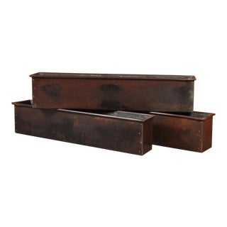 Set of Three Copper Window Boxes, Switzerland Mid Century For Sale