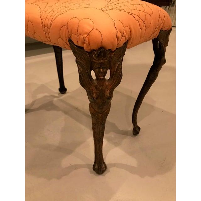 Art Deco Art Deco Metal Vanity Bench For Sale - Image 3 of 12
