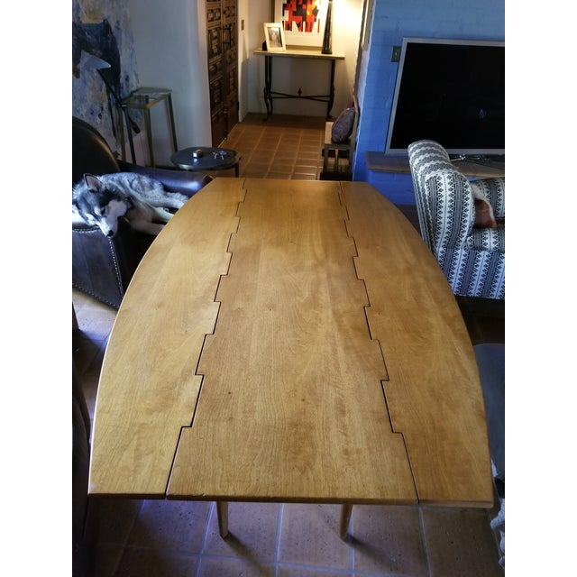 Barney Flagg for Drexel Parallel Drop Leaf Dining Table - Image 2 of 8