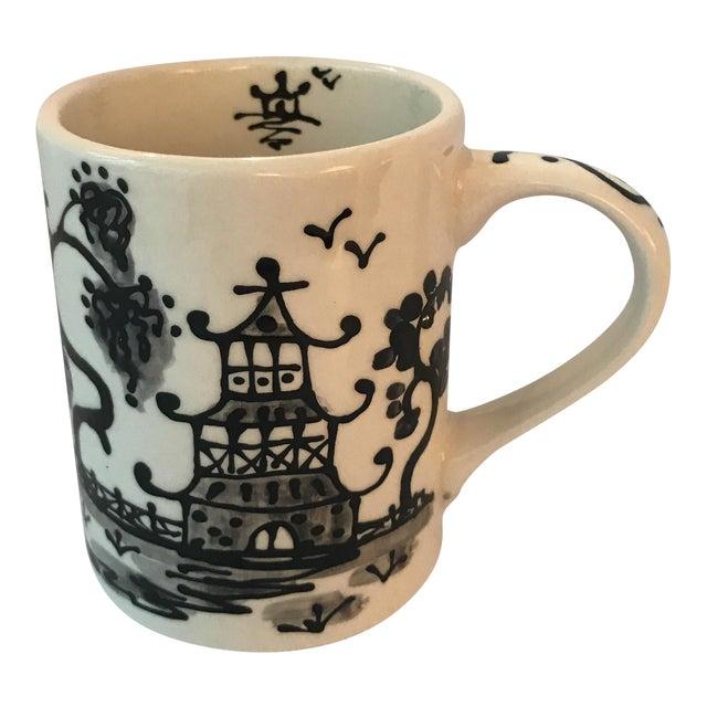 Black Porcelain Chinoiserie Mug - Image 1 of 5