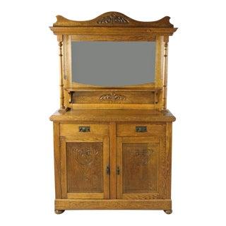Antique Arts and Craft or Art Nouveau Oak Sideboard