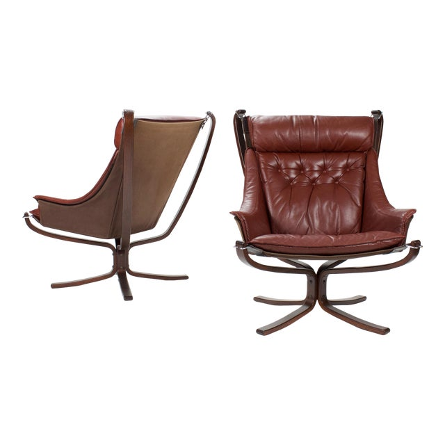 1970s Sigurd Resell for Vatne Møbler Falcon Lounge Chairs- A Pair For Sale
