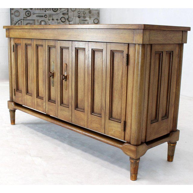 Mid-Century Modern Petit Fruitwood Credenza With Double Accordion Doors For Sale - Image 11 of 11