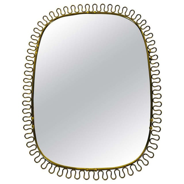 Italian Brass Framed Wall Mirror, 1960s, Italy For Sale - Image 11 of 11