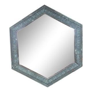 19th Century Copper Architectural Mirror For Sale