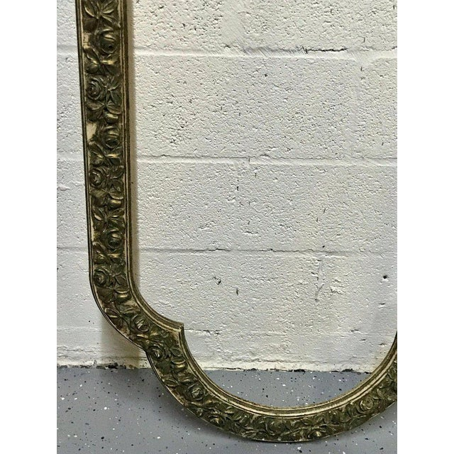 Gold Pair of French Style Architectural Carved Parcel Gilt Rose Motif Wall Appliqués For Sale - Image 8 of 12