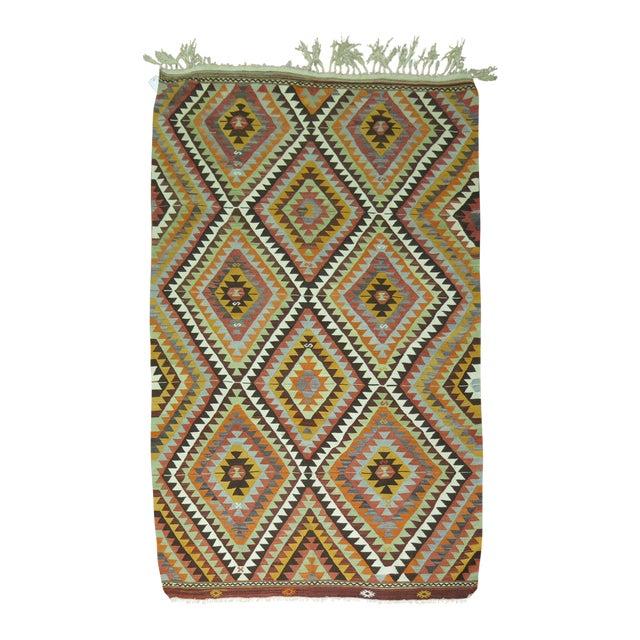One of a Kind Turkish Kilim Flatweave. 5 X 7'5''. For Sale