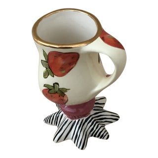 1950s Droll Hand Painted Mug Cup For Sale