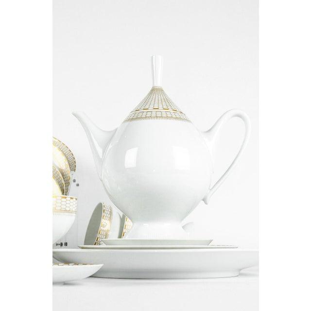 1920s Art Deco German Porcelain Luncheon Tea & Coffee Set For Sale - Image 5 of 9