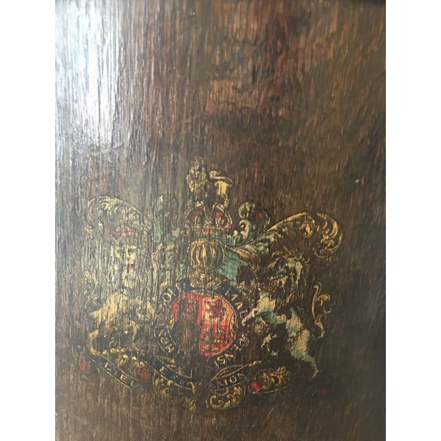 Traditional English Crest Wooden Bucket For Sale - Image 3 of 5