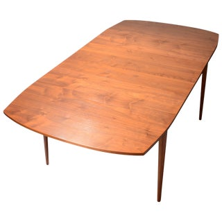 Kipp Stewart for Drexel Walnut Drop-Leaf Dining Table For Sale