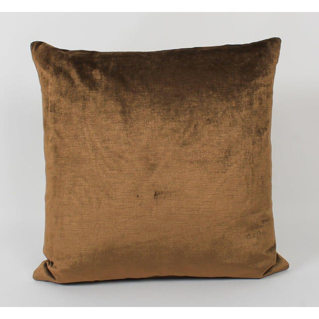 Velvet and Silk Tiger Pillows, a Pair For Sale In Atlanta - Image 6 of 6