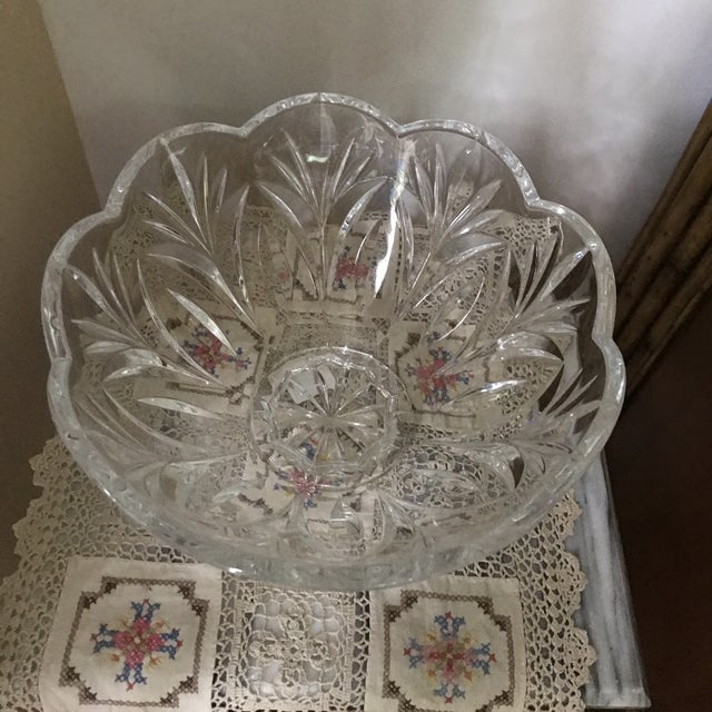 Crystal Crystal Bowl Marquis by Waterford Crystal Canterbury Pattern Bowl/Final Reduction For Sale - Image 7 of 10