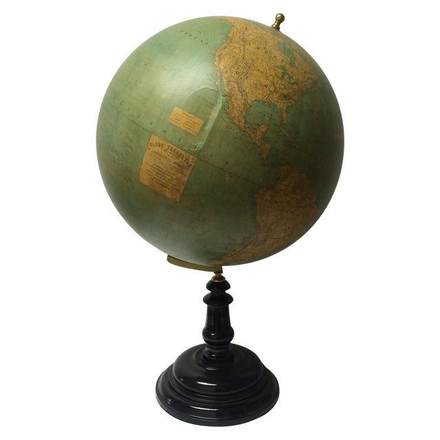 19th C. French Globe Terrestre - Image 1 of 11