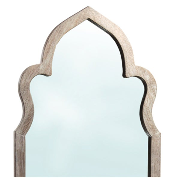 Moorish Arched Wooden Mirror - Image 2 of 2