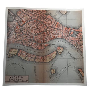 Antique Venice, Italy Map Photograph by Louise Weinberg For Sale
