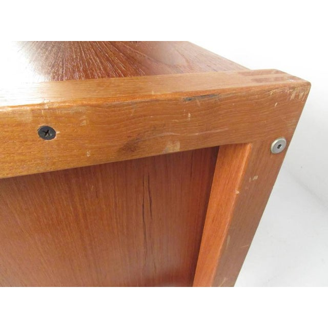 Scandinavian Modern Teak Desk For Sale In New York - Image 6 of 11