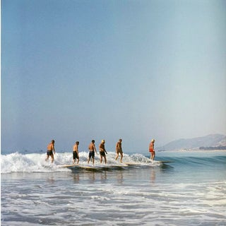 1957 Surfers at San Onofre Beach by Sid Avery (12x12 Canvas) For Sale