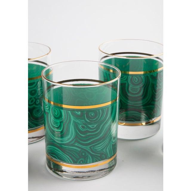 1970s Set of 6 Nieman Marcus Malachite Glasses For Sale - Image 5 of 6