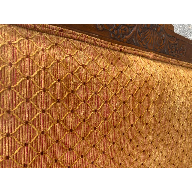 1940s French Walnut Sleigh Daybed For Sale - Image 10 of 12
