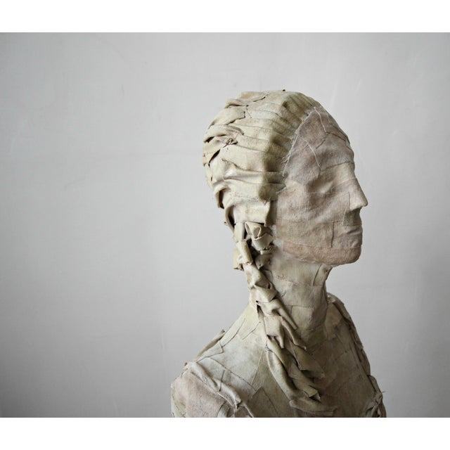 Antique 1920's French Female Art Dress Form Mannequin on Steel Stand For Sale In Las Vegas - Image 6 of 9
