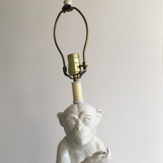 Vintage Ceramic Monkey Lamp - Image 7 of 10