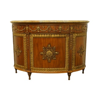 "French John Widdicomb Grand Rapids Louis XVI 36"" Demilune Console Chest For Sale"