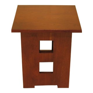 Stickley Cherry Arts & Crafts Tabort Square End Table