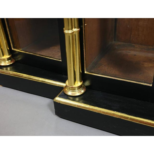 Regency Ebonized and Giltwood Credenza For Sale - Image 5 of 9